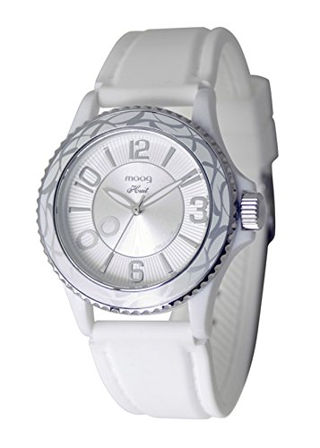 Moog Paris Huit Women's Watch with White Dial, White Strap in Silicon - M45524-002