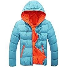 Chaquetas de hombre, Manadlian Hombres Abrigo grueso invierno con capucha Delgado Casual Una chaqueta abrigada