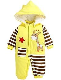 cca24c7bbc99 Kenebo Mameluco bebé Niños Recién Nacidos Niñas Espesar Monos Sudaderas  Traje De ...