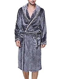 Albornoz Unisex Otoño Invierno Hombre Coral Fleece Mujer Batas Fashion Elegantes Vintage Cómodo Kimono Manga Larga