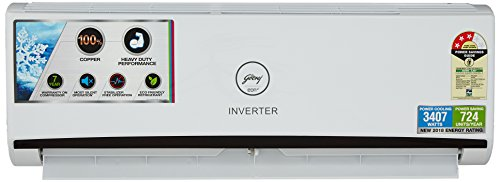 Godrej 1 Ton 3 Star Inverter Split AC (Copper, GIC 12 RINV 3 RWQH, White)