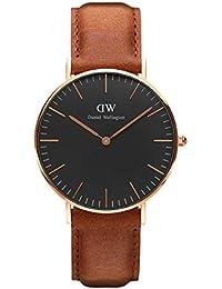 Daniel Wellington Classic Herren-Armbanduhr Analog Quarz Leder - DW00100126