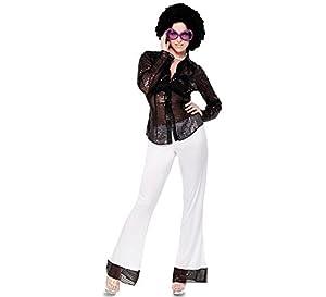 Fyasa 706244-T04 Disfraz de Discoteca para niña de 12 años de Edad,, Grande