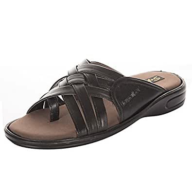 HawalkerMen's Black Rubber Sandals - 10