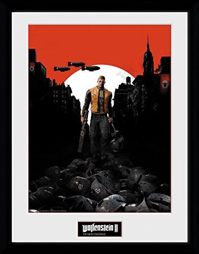 Preisvergleich Produktbild 1art1 106711 Wolfenstein - 2, Key Art Gerahmtes Poster Für Fans Und Sammler 40 x 30 cm