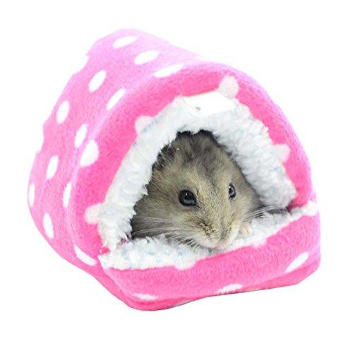 rosa, nette Karikatur-beste Tierbedarf Heim für Hamster-weiche warme Washable Haustier-Bett