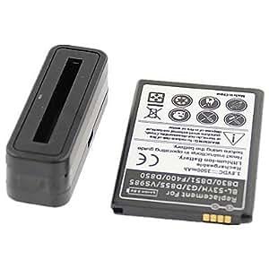 batteries haute capacité 3500mAh 3.8V de batteries et chargeur pour LG g3 , Noir