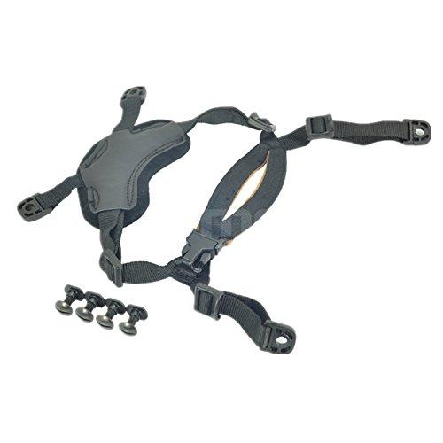 haoyk gewöhnlichen Helm-Unterbrechung Schlüsselband mit 4Punkte Kinnriemen für schnelle Ach mich IBH Helm schwarz (Mich Helm)