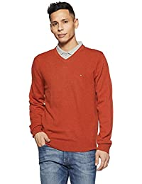c2ed762c TOMMY HILFIGER Men's Wool Sweater (8907504766697_A7AMS125_M_Rooibos Tea  Heather)