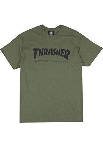 MAGLIETTA THRASHER SKATE MAG VERDE - L, verde
