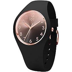 Ice-Watch - Ice Sunset Black - Montre Noire pour Femme avec Bracelet en Silicone - 015746 (Small)