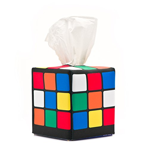 Rubik's Cube Tissue Box Cover, as seen in Sheldon's Apartment on the Big Bang Theory (Big Bang Machine)