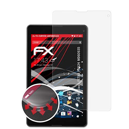 atFolix Schutzfolie passend für Medion LIFETAB P8524 MD60935 Folie, entspiegelnde und Flexible FX Displayschutzfolie (2X)