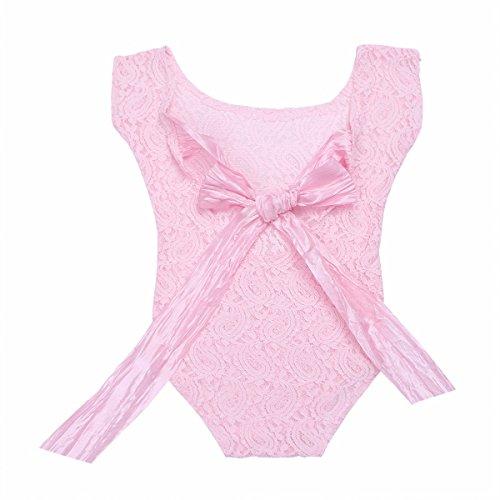 Mädchen Kostüm Rosa Rock - FEESHOW Neugeborenes Mädchen Spielanzug Kurzarm Strampler Body Anzug Baby Foto Prop Kostüm für 0-3 Monate Rosa One Size