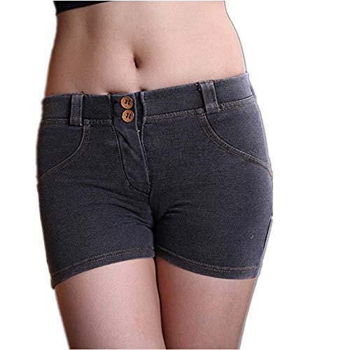 Jeansshorts Sport Fitness Jeansshorts Slim Peach Hips Hochelastische Beauty Hip Fitness Peach Ash - Weibliche Ash Kostüm