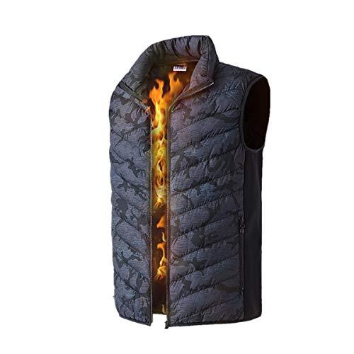 Blingko Beheizte Weste Waschbar Heat Jacke Tuch für Körperwärmer in kalten Winter Outdoor Aktivitäten Jagd Camping Wandern Skifahren passt Männer FrauenBergsteigerweste 25°~ 45°Outwear L-6XL