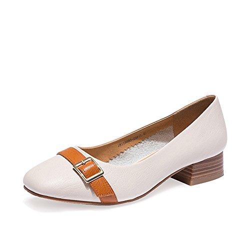 XZGC Grand-Mère Tête Carrée Rétro Chaussures Chaussures de Mode Chaussures Tendance Rugueuse avec