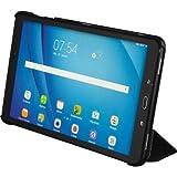 Hama 2in110.1Black Leaf noir-housse Folio für Tablets (Samsung Galaxy Tab PU Staub resistent kratzfest)