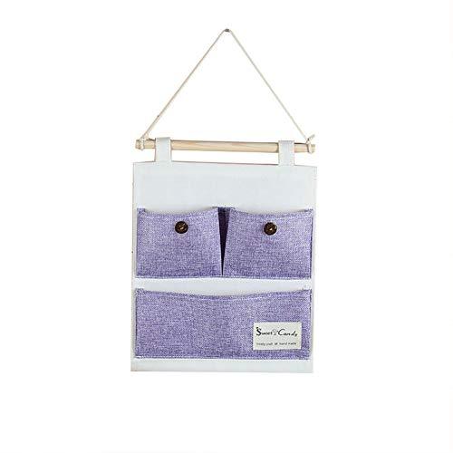 Shuda 3 Taschen zur Wandmontage, Handtasche, zum Aufbewahren von Handtaschen, Fernbedienung, für die Tür, violett, 25 * 32CM (Violetta Handtasche)