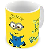 Illuminati Gifts You Are 1 In A Minion Brother Special Design Printed Multicolor Ceramic Coffee Mug - 325 Ml Rakhi Raksha Bandhan Gift For Brother