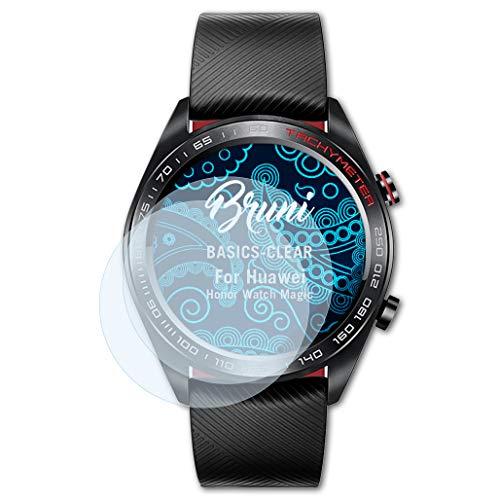 Bruni Schutzfolie kompatibel mit Huawei Honor Watch Magic Folie, glasklare Bildschirmschutzfolie (2X)