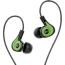 Sound Intone BYZ-K62 Deportes Auriculares con Micrófono y Control de volumen, Running Estéreo in ear Headphones para iPhone Android Smartphones iPad iPod Mac Portátil Tabletas(Verde)
