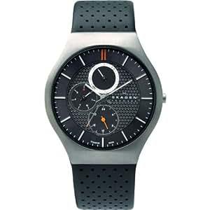 Skagen - 806 XLTLM - Montre Homme - Quartz - Analogique - Bracelet cuir Noir