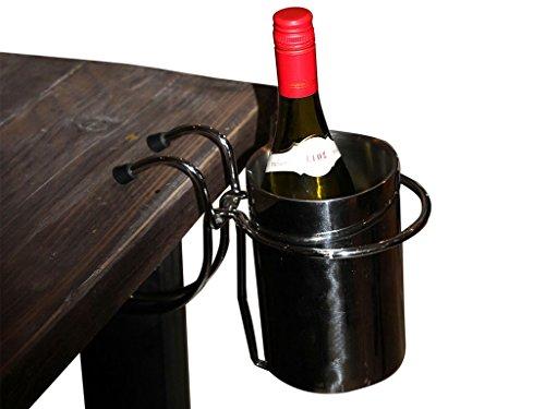 Flaschenkühler mit Tischhalterung - Edelstahl - Sektkühler - Weinkühler - Getränkekühler -...