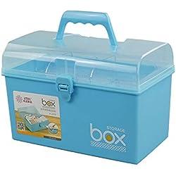 Mayish Petite Poignée de Rangement en Plastique Boîte de Rangement pour récipient avec Couvercle, Bleu