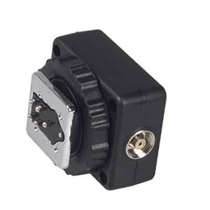 E-TTL Adaptateur griffe flash de Kaavie avec Extra Sync Port PC pour Canon reflex numériques et Flashguns