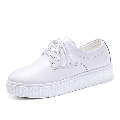 automne plate-forme chaussures femme / Plate-forme polyvalente fond plat chaussures/Chaussures occasionnelles de UK Sport/Petites chaussures blanches A