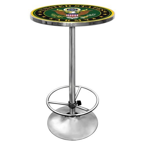 Trademark Gameroom United States Army chrom Pub Tisch