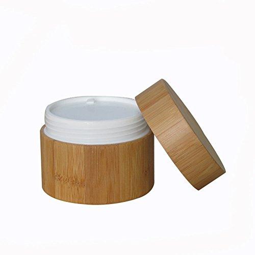 100 ml de l'environnement Bambou Corps vide rechargeable Crème cosmétique stockage Jar Bouteille Container bouteille pour Voyage et à la maison