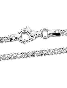 Amberta 925 Sterlingsilber Halskette - Popcorn-Kette - 2.5 mm Breite - Verschiedene Längen: 40 45 50 55 60 cm