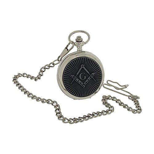 BOXX Herren Freimaurer Taschenuhr mit 33 cm Uhrkette BOXX394