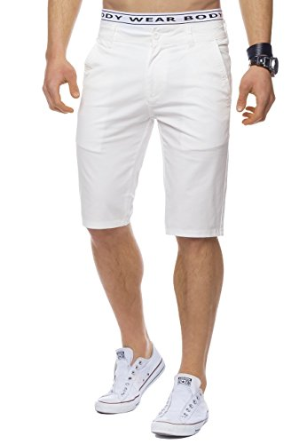 Uomini tratto Chino Bermuda William ID1442 Slim Fit, Farben:White;Größe-Shorts:W32