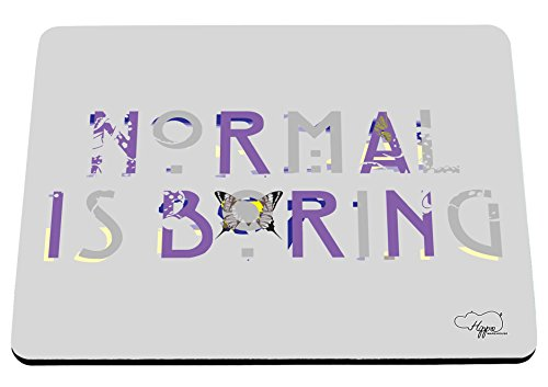 hippowarehouse-normal-is-boring-butterfly-printed-mouse-mat-pad-accessory-black-rubber-base-240mm-x-