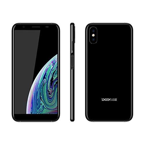 DOOGEE X55 2018 Smartphone ohne Vertrag, Handy Dual SIM, 5.5 Zoll, Android 7.1 Mobile, 1+16GB, 2800mAh Akku, Seitlicher Fingerabdruck, 3G Phone Portable, WiFi, Günstige Handys unter 100 Euro, schwarz