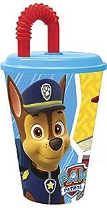 Paw Patrol La Patrulla Canina- Vaso con Tapa y caña 430 ml (STOR 82730)