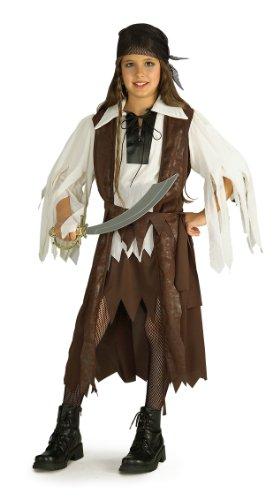 Kinder Kostüm Piraten Queen Bucaneer Halloween Outfit 5–7Jahre (Pirat Bucaneer)