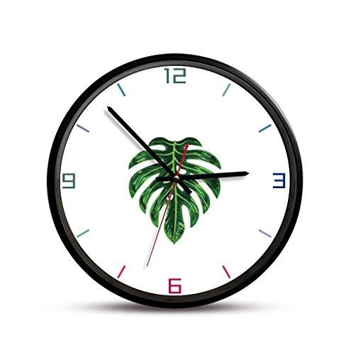 GXJ-wall clock Chang-dq Reloj de Pared de la Entrada, Estudio del Restaurante del Dormitorio Reloj de Pared de la Planta del Patio Reloj de Pared del Metal 30.5 * 30.5CM decoración de Pared