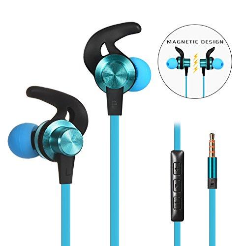 Wired Earbuds Kopfhörer, Bambud In Ear, 3.5mm Wired Earbuds Kopfhörer Kopfhörer, Eingebautes Mikrofon/Lautstärkeregler, Kompatibel mit iPhone, iPad, Samsung, Huawei, XiaoMi, etc (Blau)