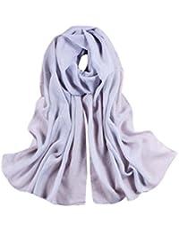 Vovotrade las mujeres bufanda larga suave chal de gasa fina envoltura,160*50CM