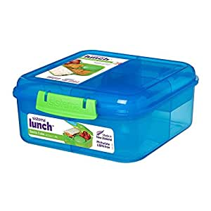 Sistema Lunch Bento Cube with Fruit/Yogurt Pot, 1.25 L - Assorted Colours