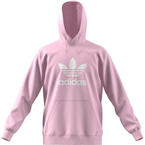 adidas Herren Trefoil Hoody Sportkapuzenpullover, Clear Pink, Large -