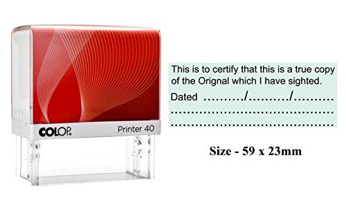 Colop Printer 40 Timbro personalizzato in gomma autoinchiostrante per ufficio personalizzato