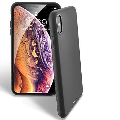 UNBREAKcable iPhone X/XS Hülle – Weiche, mattierte TPU Ultra-dünne Stylische iPhone X/XS Handyhülle für 5,8 Zoll iPhone X/XS [Fallschutz, Rutschfest] – Matt Schwarz