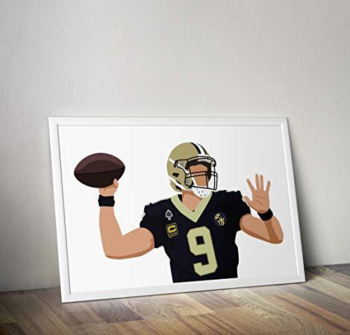 Drew Brees inspirierte Poster - Zitat - Alternative Sport/Amerikanischer Fußball Prints in verschiedenen Größen (Rahmen nicht im Lieferumfang enthalten)