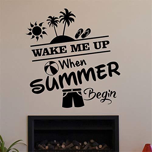 wandaufkleber baum Wecke Mich Auf, Wenn Der Sommer Für Kinderzimmer Kinderzimmer Beginnt