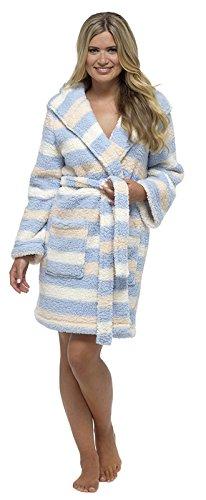 Lora Dora Womens Short Luxury Fleece Dressing Gown + Belt Bath Robe Housecoat Ladies Size UK 8-18